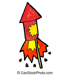 cartoon firework rocket