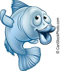 Cartoon Fish Character