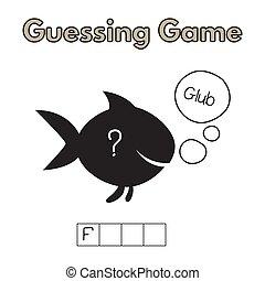 Cartoon Fish Guessing Game