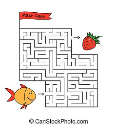 Cartoon Fish Maze Game