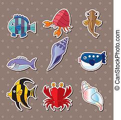 cartoon fish stickers