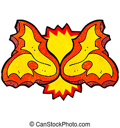 cartoon flame design element