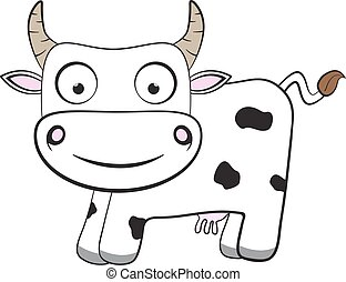 cartoon flat cow