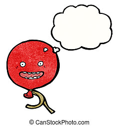 cartoon floating balloon