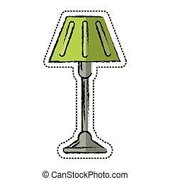 cartoon floor lamp decoration icon