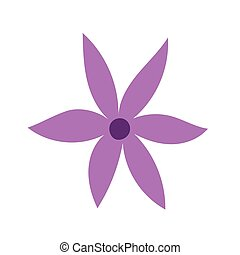 cartoon flower decoration icon in isolated style