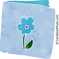 cartoon flower greeting card
