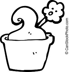 cartoon flower in pot