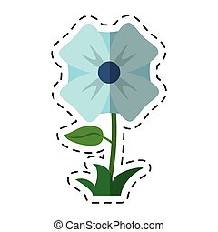 cartoon flower romantic natural icon