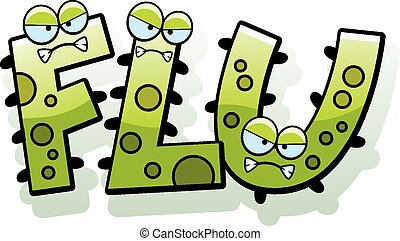 Sick Flu Bug With Thermometer stock vector art 165669700 ... |Flu Bug Cartoons