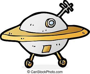 cartoon flying saucer