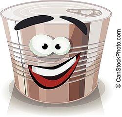 Cartoon Food Can Character