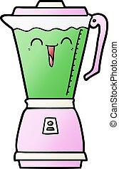 cartoon food processor