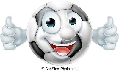 Cartoon Football Ball Man