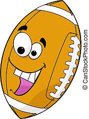 Cartoon football - Illustration of a cartoon football...