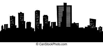 Cartoon Fort Worth - Cartoon skyline silhouette of the city...