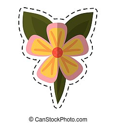 cartoon freesia flower tropical icon