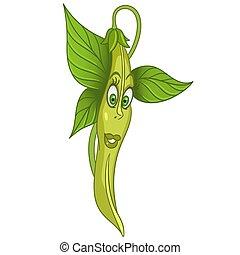 Cartoon French Bean