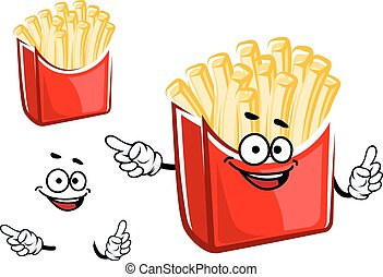 Cartoon french fries box character