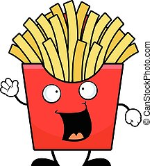 Cartoon French Fries Happy