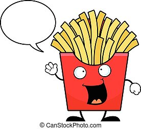 Cartoon French Fries Talking