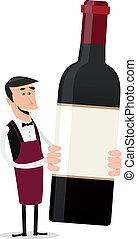 Cartoon French Winemaker - Illustration of a cartoon...