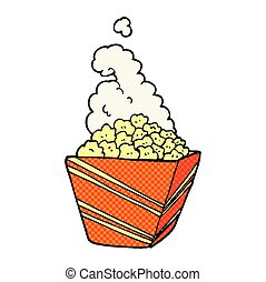 cartoon fresh popcorn