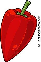 Cartoon Fresh Red Jalapeno Pepper
