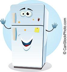 Cartoon Fridge - Illustration of a cartoon happy fridge...