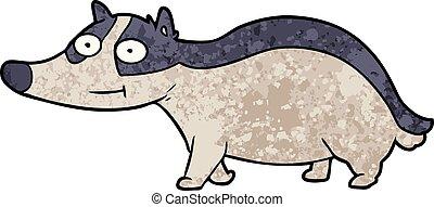cartoon friendly badger