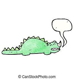 cartoon friendly dinosaur