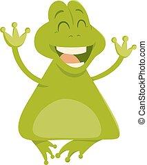 cartoon frog animal character