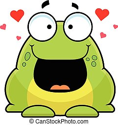 Cartoon Frog Happy