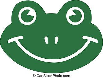 Cartoon frog head