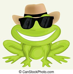 Cartoon frog in sunglasses