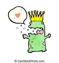 cartoon frog prince