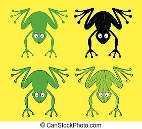 cartoon frog silhouette
