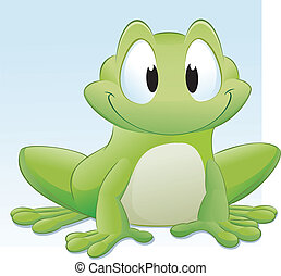 Cartoon Frog - Vector illustration of a cute cartoon frog....