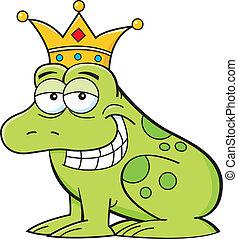 Cartoon frog wearing a crown
