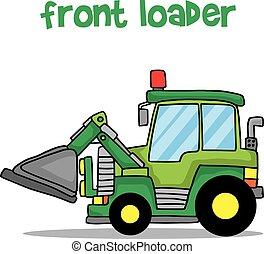 Cartoon front loader vector art