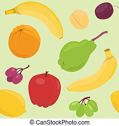 Cartoon fruit seamless pattern