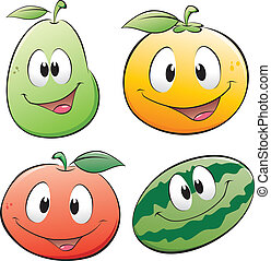 Cartoon Fruit