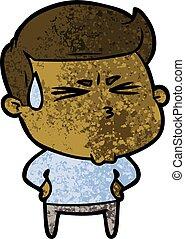 cartoon frustrated man