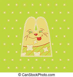 Cartoon fun rabbit