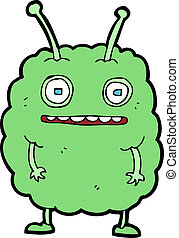 cartoon funny alien monster