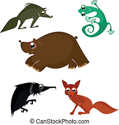 Cartoon funny animals design