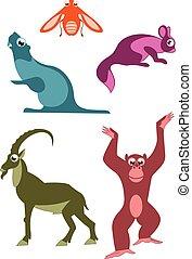 Cartoon funny animals illustration