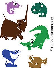 Cartoon funny animals set for desig - cartoon funny...