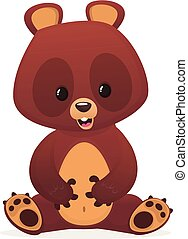 Cartoon funny bear illustration