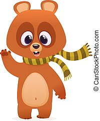 Cartoon funny bear  illustration